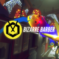 game logo for Bizarre Barber