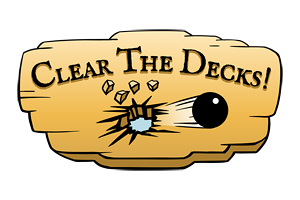 game logo for Clear the Decks!