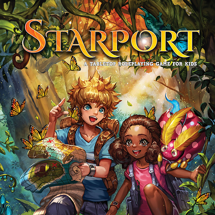 game logo for Starport - A Tabletop Roleplaying Game For Kids